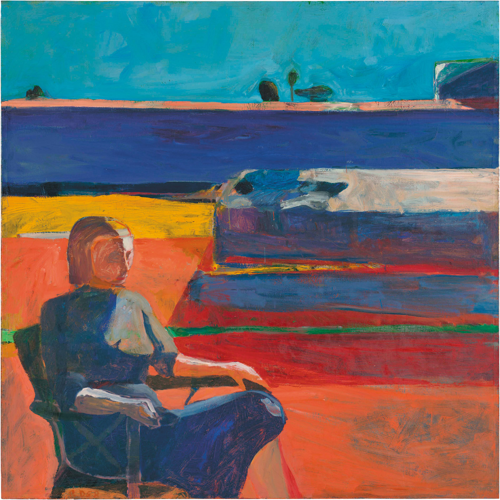 Richard Diebenkorn: Woman on a Porch, 72 x 72 inches, 1958