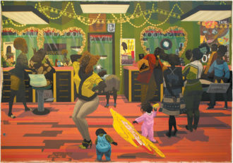 Kerry James Marshall: School of Beauty, School of Culture, 107 7/8 x 157 7/8 inches, 2012