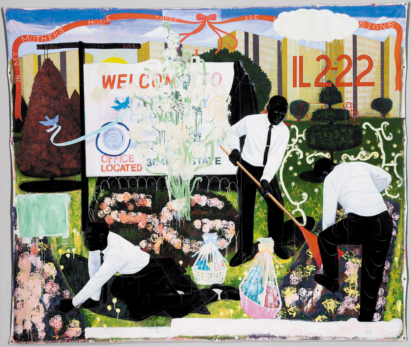 Kerry James Marshall: Many Mansions, 114 x 135 inches, 1994