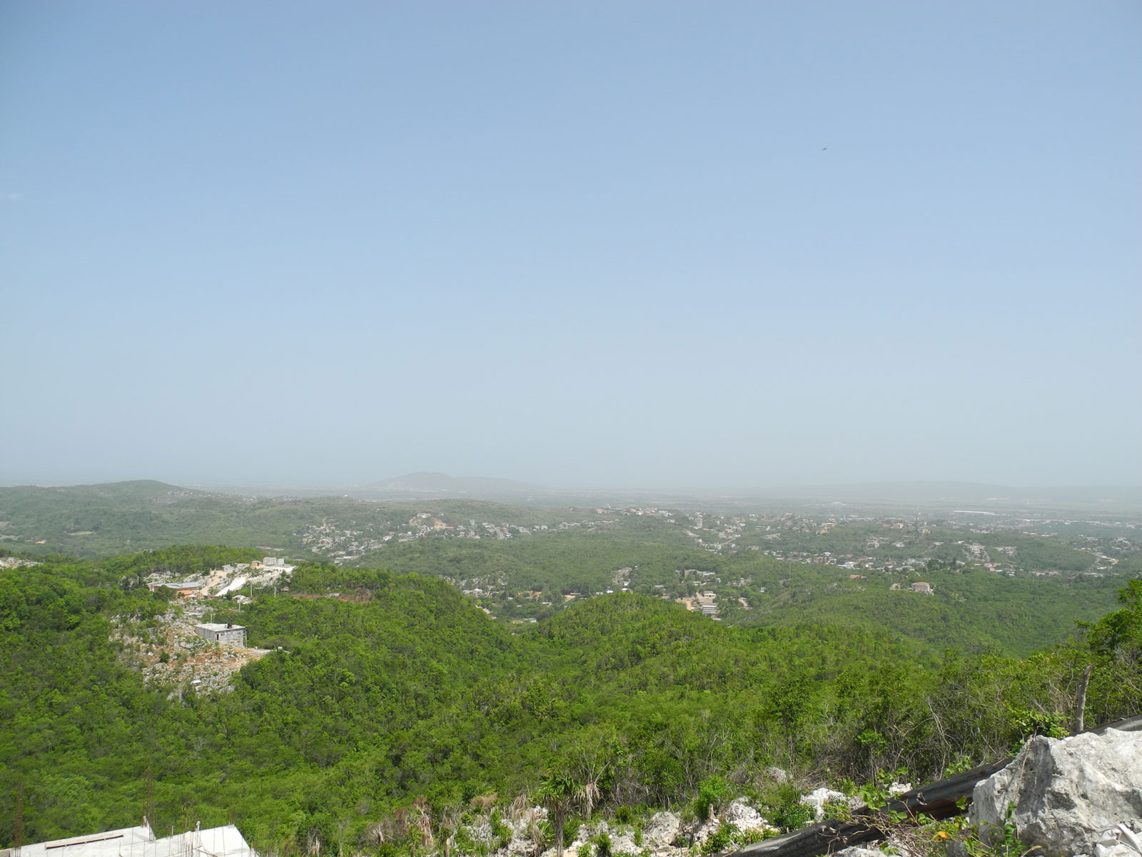The view from Pinnacle's highest point, Sligoville, Jamaica, June, 2014