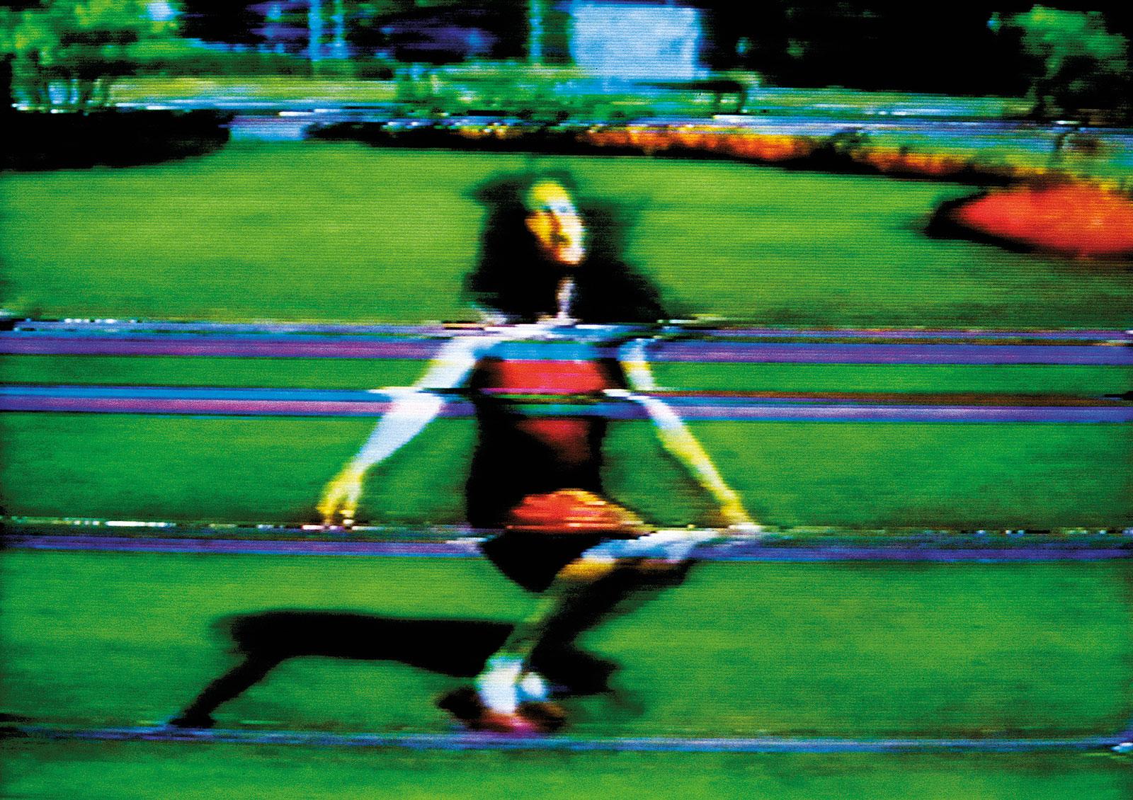 Still from Pipilotti Rist's (Absolutions) Pipilotti's Mistakes, 1988