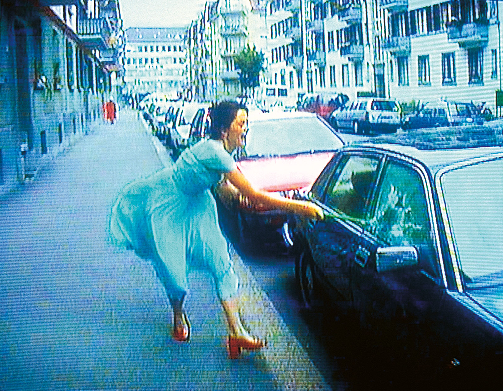 Still from Pipilotti Rist's Ever Is Over All, 1997