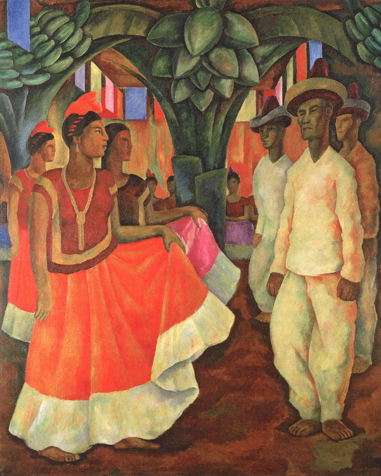 Diego Rivera: Dance in Tehuantepec, 1928