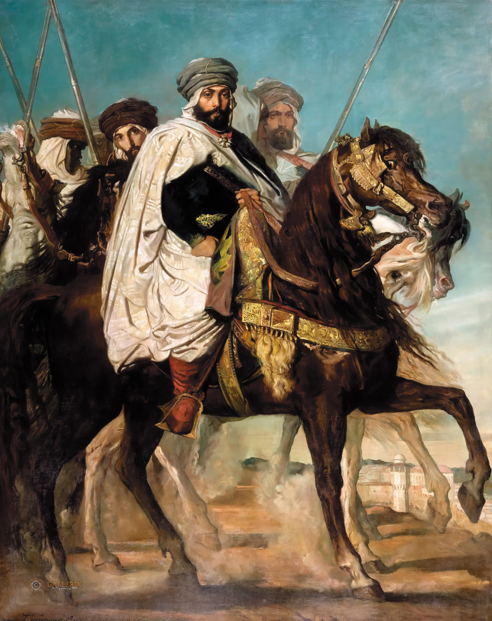 Théodore Chassériau: Caliph of Constantine Ali-Hamed Followed by His Escort, 1845