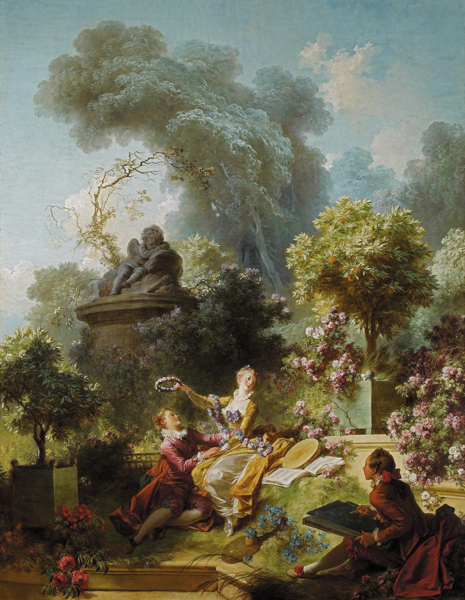Jean-Honoré Fragonard: The Progress of Love: The Lover Crowned, 1771–1772