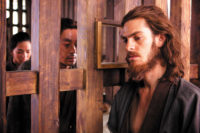 Andrew Garfield as the Portuguese Jesuit missionary Father Rodrigues in Silence, Martin Scorsese's film adaptation of the novel by Endō Shūsaku