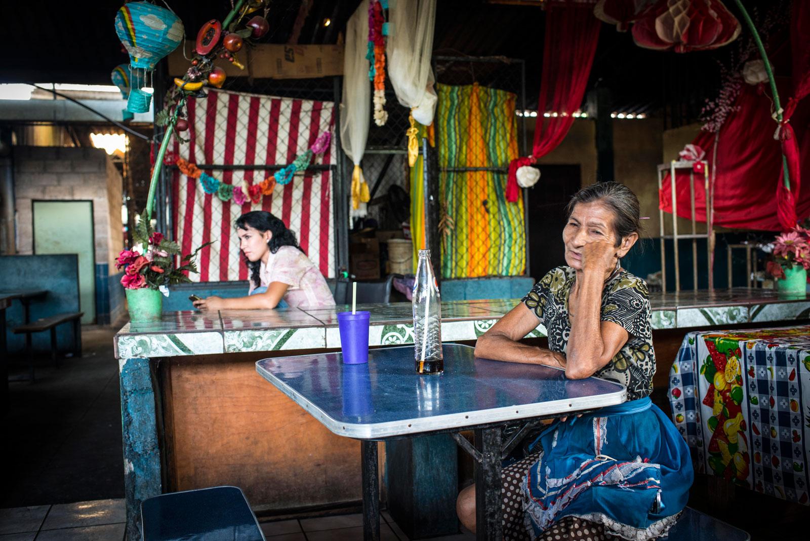 The central market in San José Guayabal, El Salvador, August 21, 2016