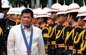 Rodrigo Duterte the day after he was sworn in as president of the Philippines, Manila, July 1, 2016