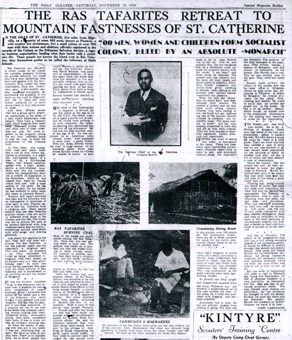 The Daily Gleaner, special magazine section, November 23, 1940