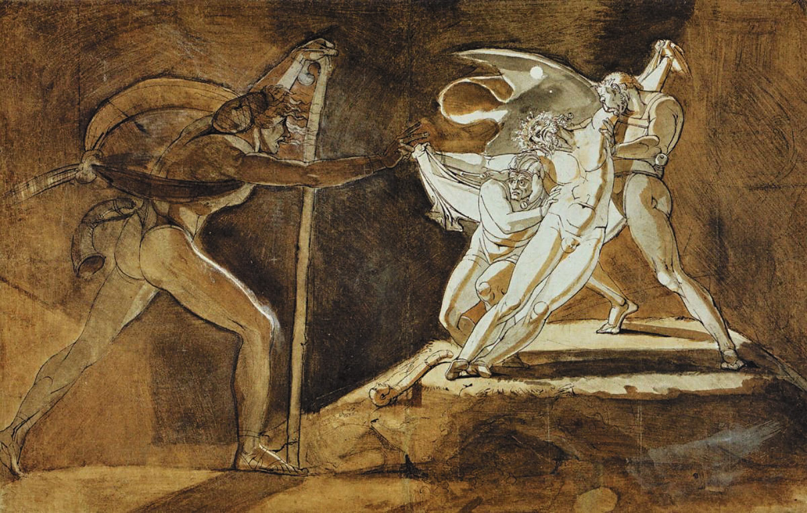 'Edgar, Feigning Madness, Approaches Lear'; drawing by Henry Fuseli, 1772