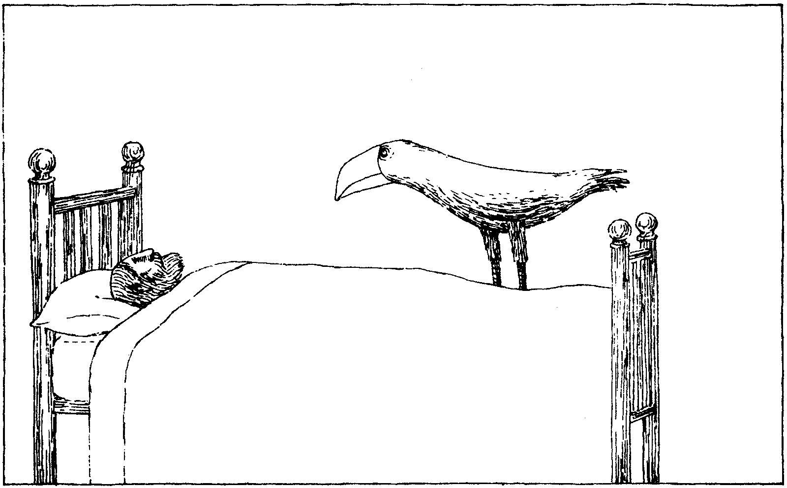 Drawing by Edward Gorey
