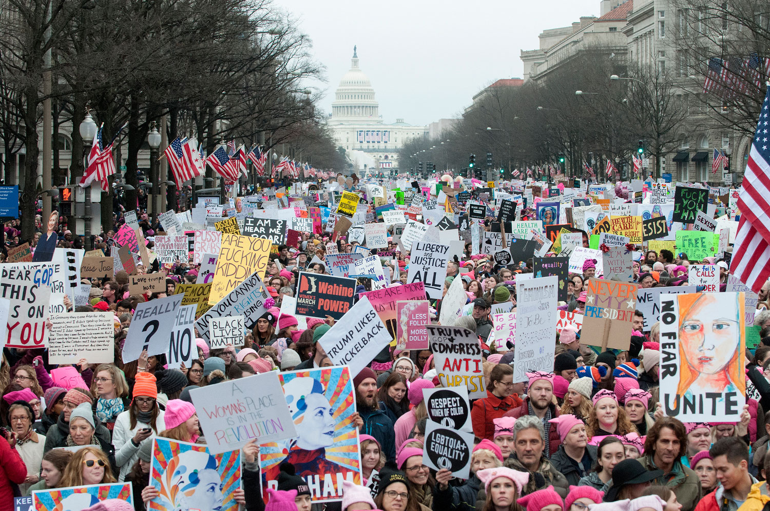 The Women's March, Washington, D.C., January 21, 2017