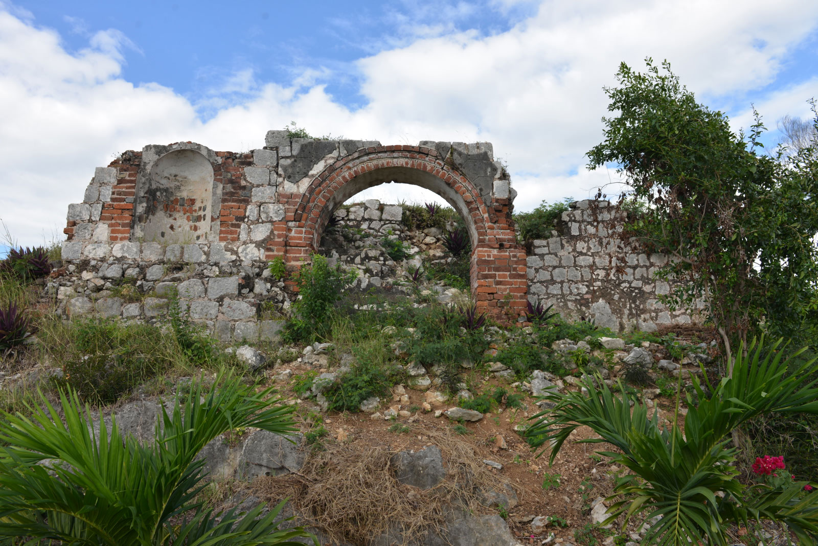 Ruins of the Great House where Leonard Howell lived at Pinnacle, Sligoville, Jamaica, January 4, 2014