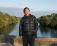 Tan Hecheng, author of The Killing Wind, on China's Cultural Revolution, at Widow's Bridge where many were murdered in Fall 1967, November, 2016
