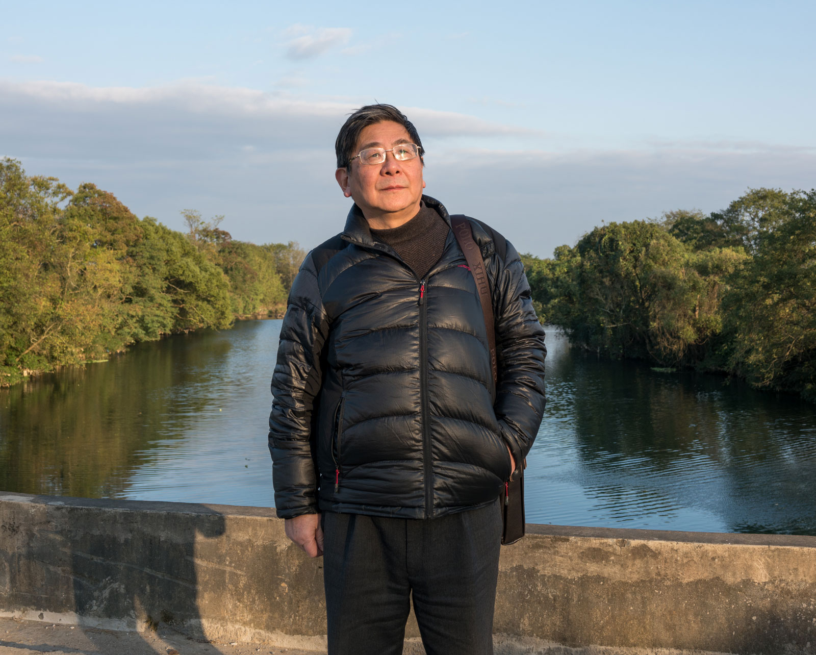 Tan Hecheng, author of The Killing Wind, on China's Cultural Revolution, at Widow's Bridge where many were murdered in the fall of 1967, November 2016