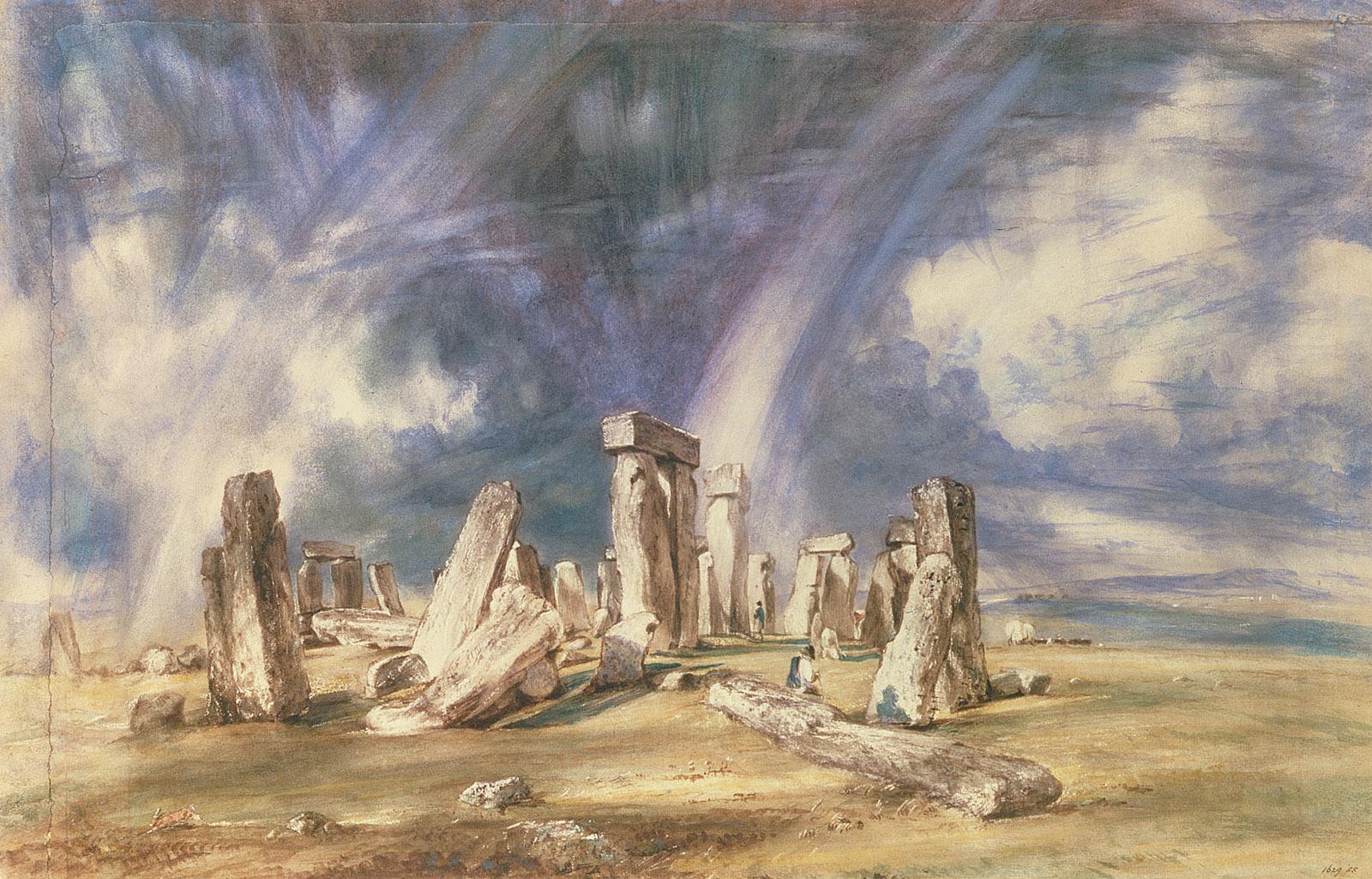 John Constable: Stonehenge, 1835