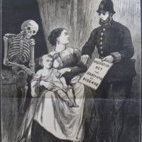 Death the Vaccinator,  published by The London Society for the Abolition of Compulsory Vaccination, late nineteenth century