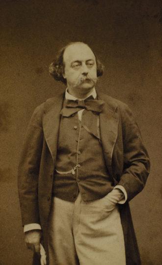 Gustave Flaubert, circa 1860; carte-de-visite portrait by Étienne Carjat