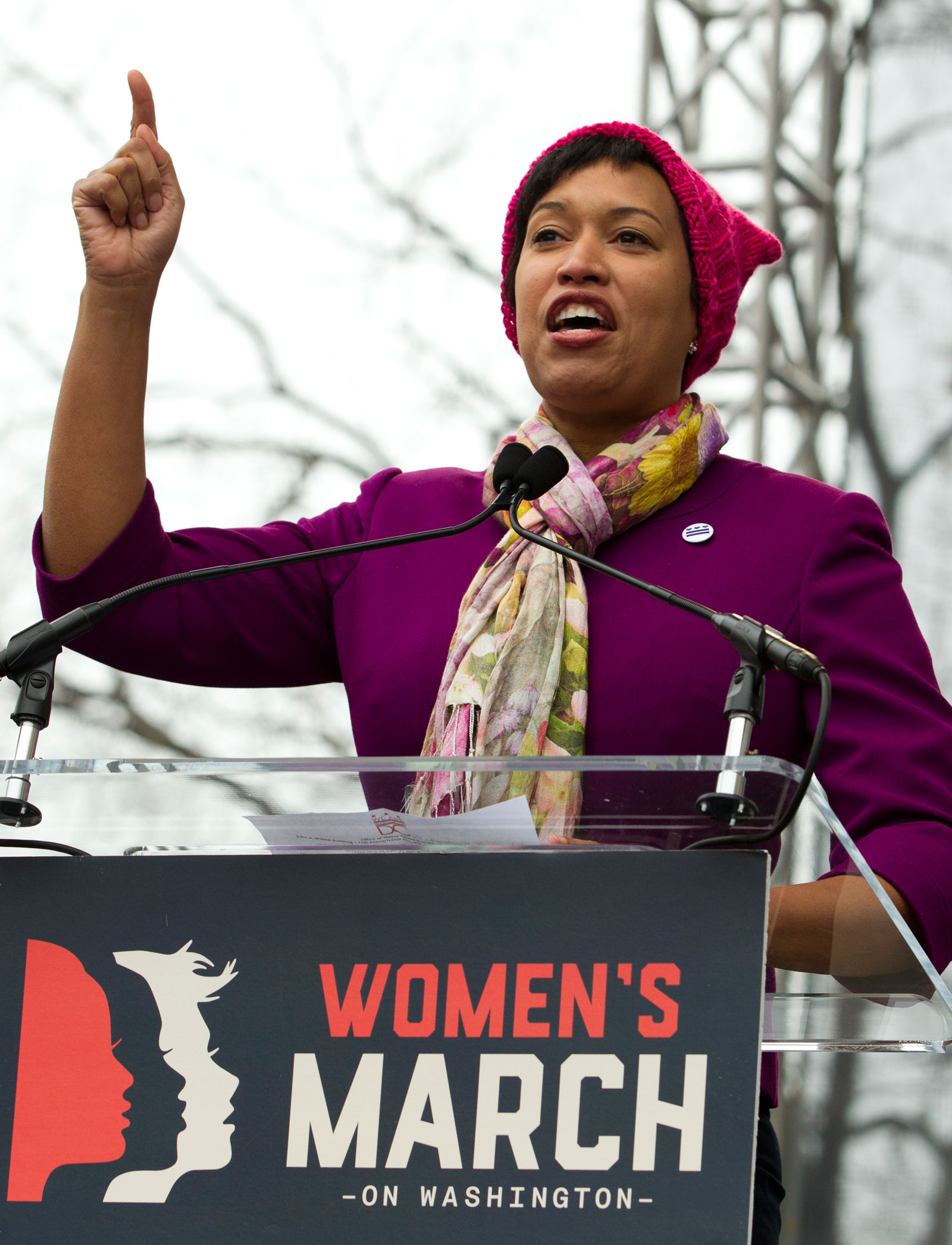 Mayor Muriel Bowser at the Women's March, Washington, D.C., Saturday, January 21, 2017