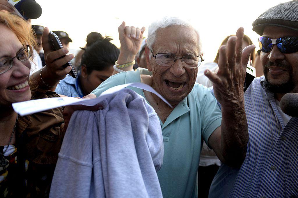 Former Salvadoran Defense Minister José Guillermo García following his extradition from the US for human rights violations during El Salvador's civil war, El Salvador, January 8, 2016