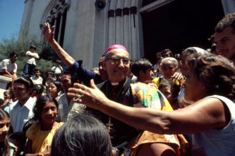 Archbishop Óscar Arnulfo Romero, the year before his murder by right-wing paramilitaries, El Salvador, 1979