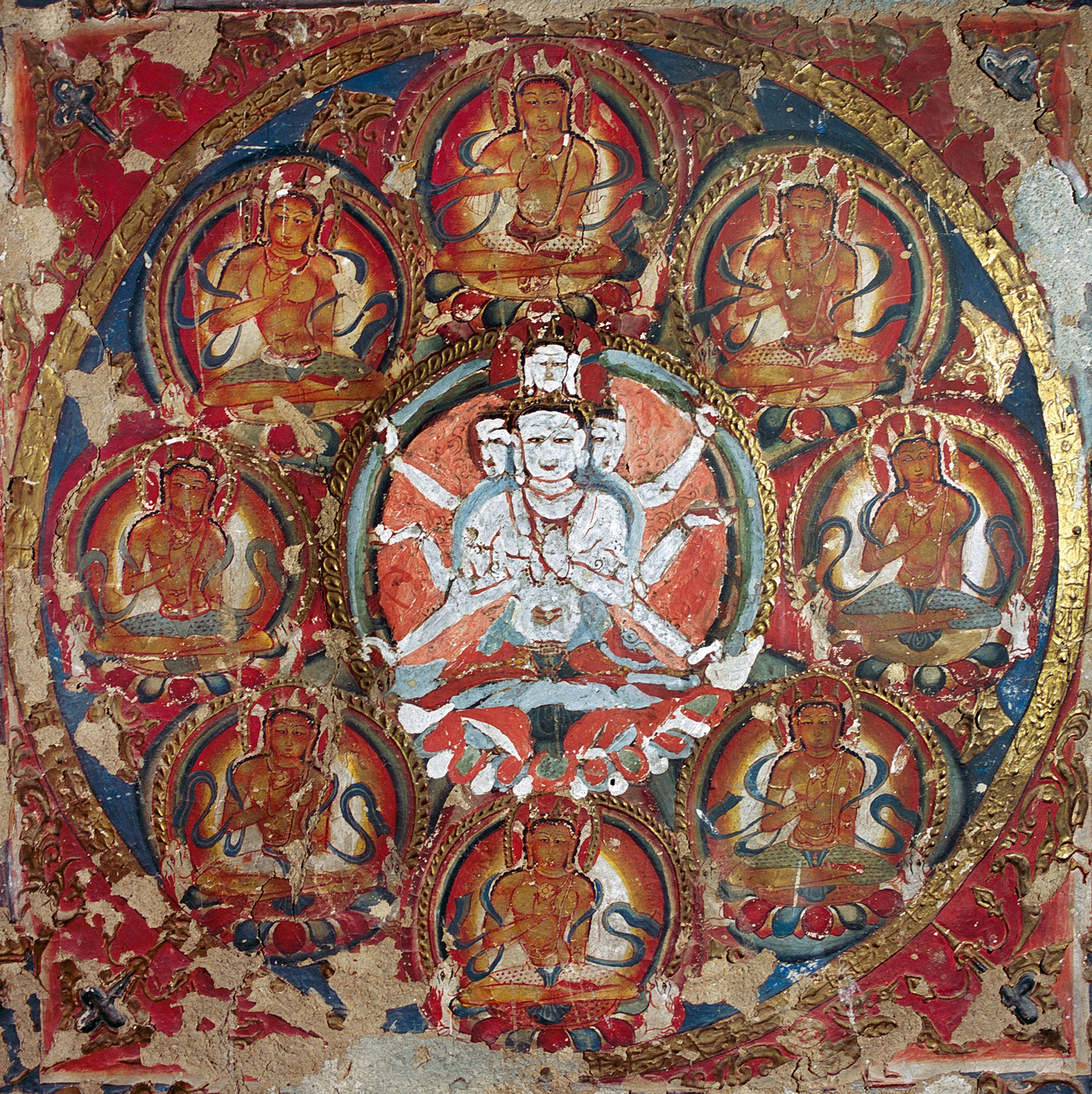 Detail of the Manjushri Mandala at the Temple of the Great Translator, Nako, late eleventh to early twelfth century