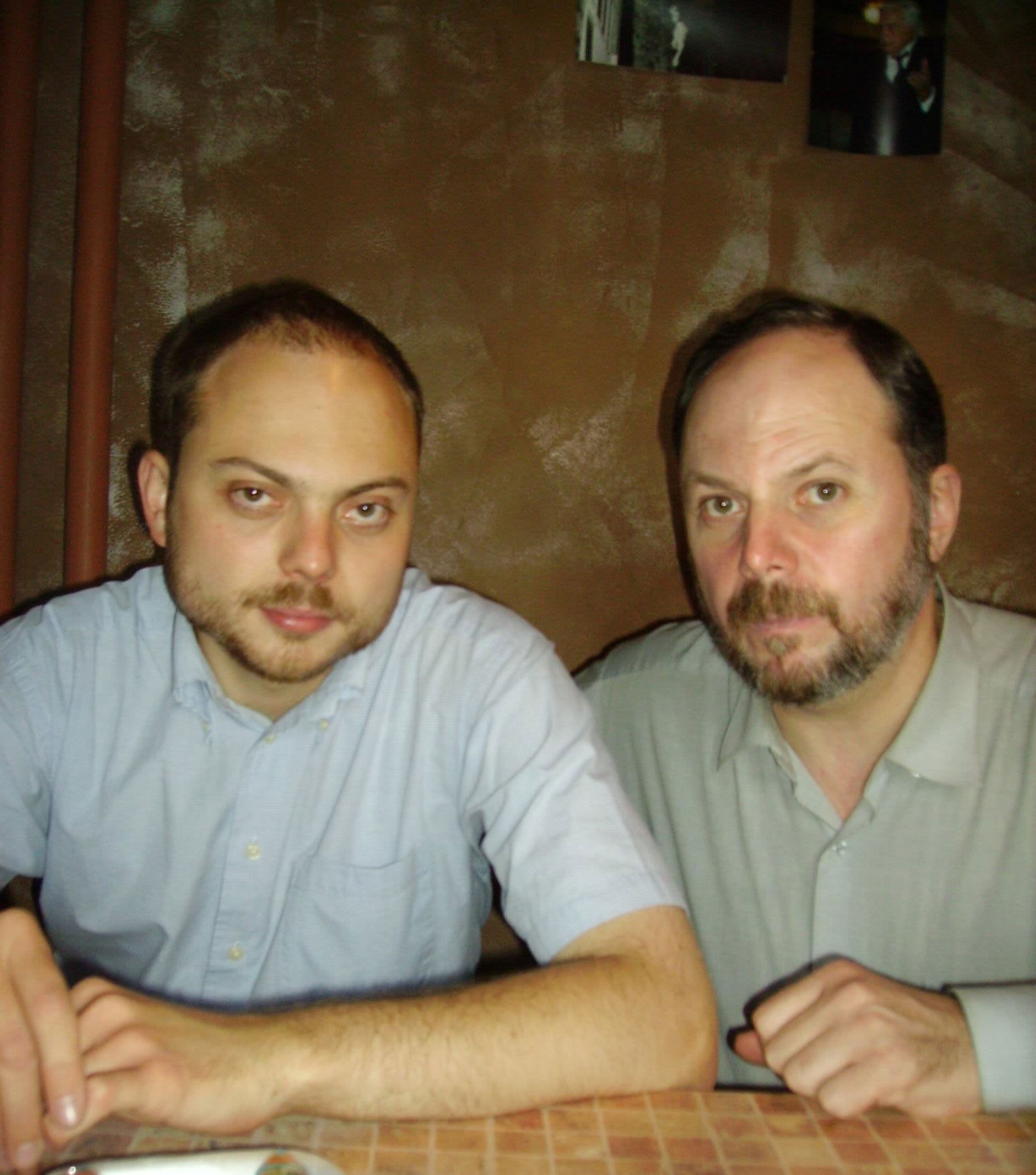 Vladimir Kara-Murza and his father, Vladimir Kara-Murza Sr., Moscow, 2007