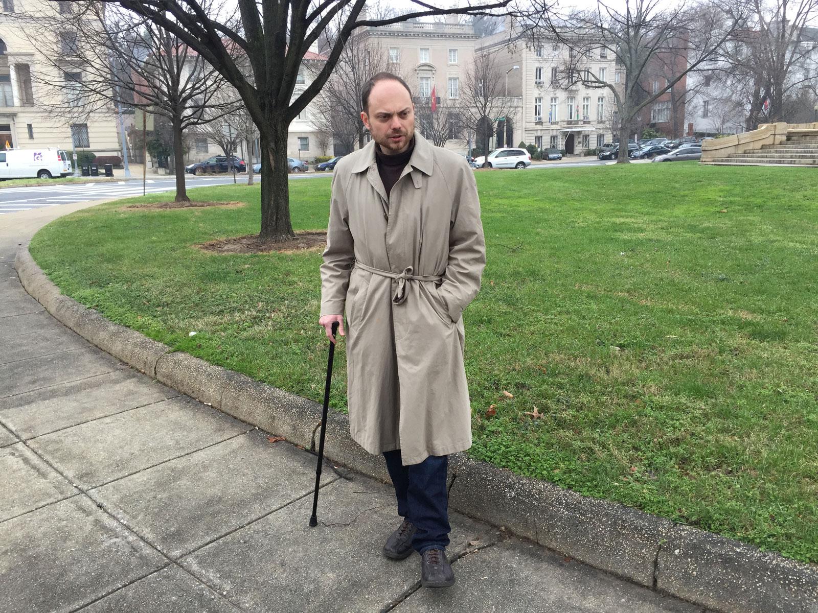 Vladimir Kara-Murza after his first poisoning, Washington, D.C., fall 2015