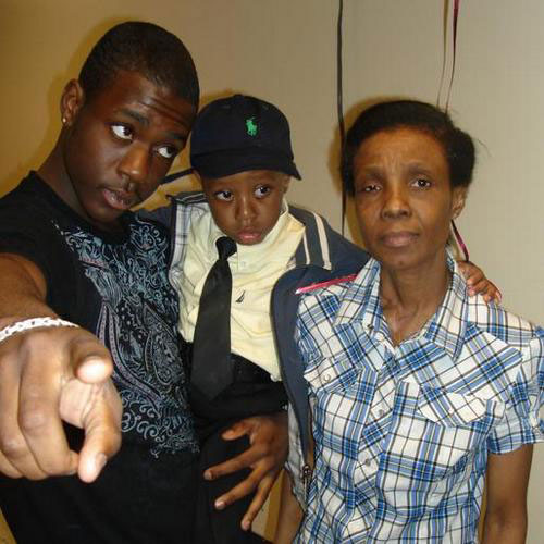 Ramarley Graham with his little brother, Chinnor Campbell, and his grandmother, Patricia Hartley