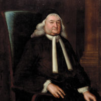 Samuel Sewall; portrait by Nathaniel Emmons, 1728