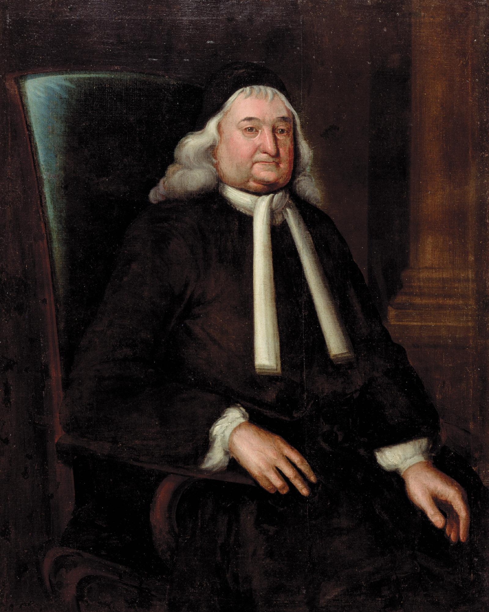 Samuel Sewall; portrait by Nathaniel Emmons, 1728