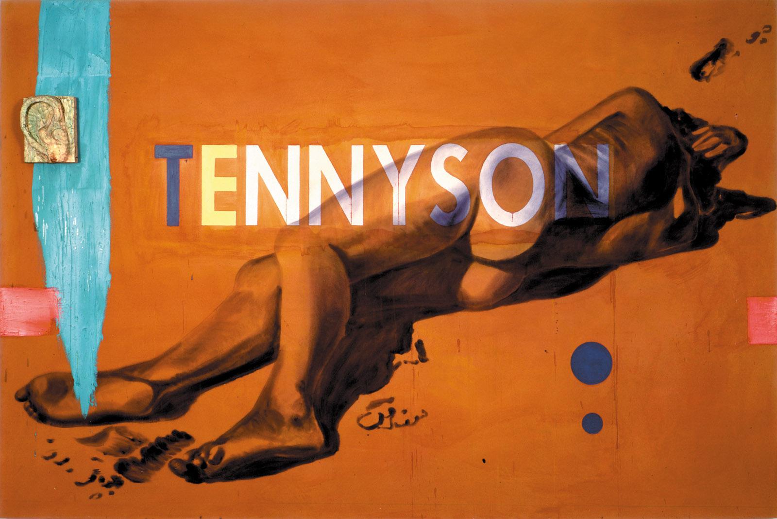David Salle: Tennyson, 78 x 117 x 5 1/2 inches, 1983