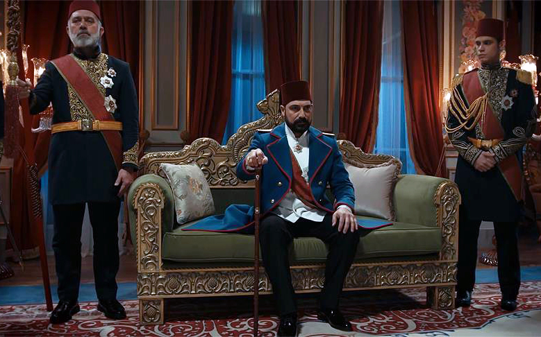 A scene from <em>Payitaht Abdülhamid</em>, a new Turkish television series about Sultan Abdülhamid II, 2017
