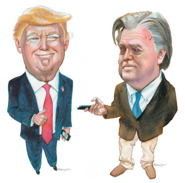 Donald Trump and Steve Bannon