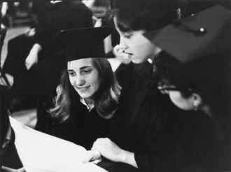 Students graduating from Radcliffe College, Cambridge, Massachusetts, June 1962