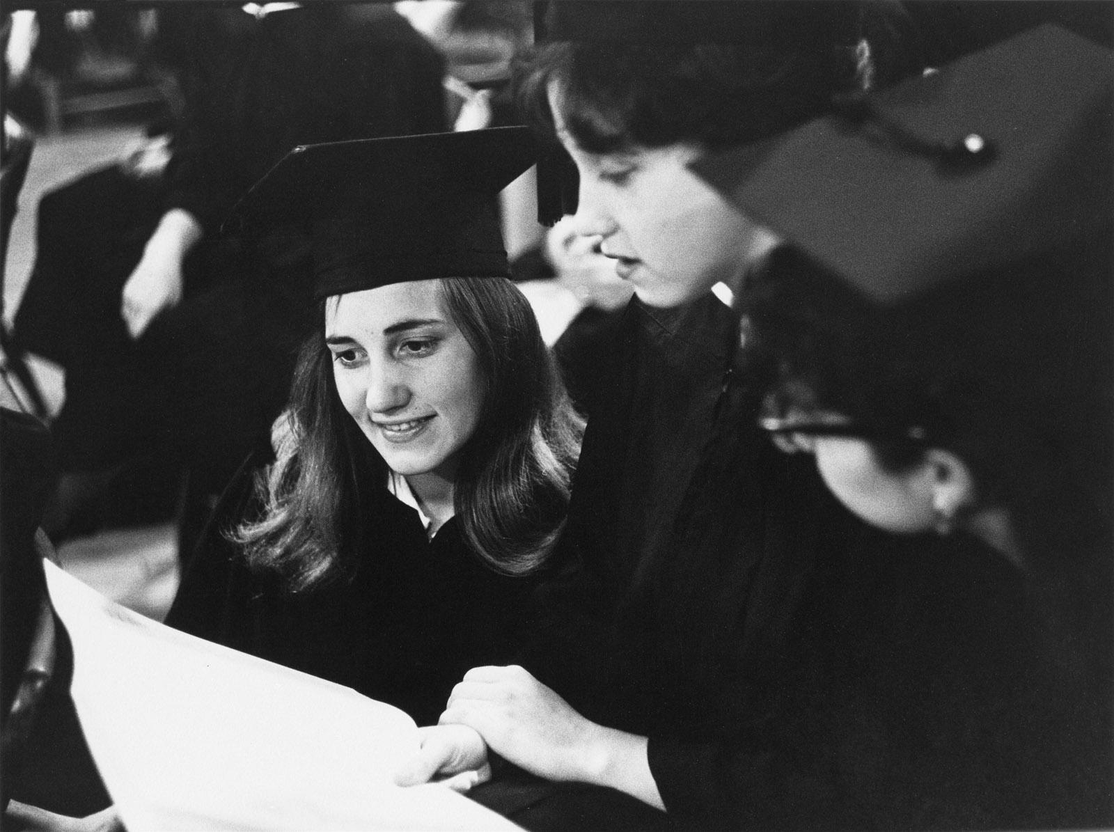 Students graduating from Radcliffe College, Cambridge, Massachusetts, June 1962