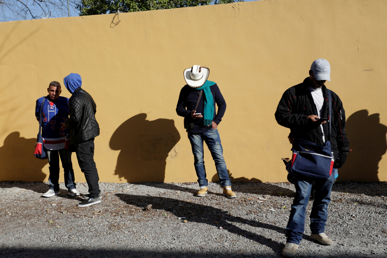 Cuban migrants stranded on their way to the US, Nuevo Laredo, Mexico, February 16, 2017
