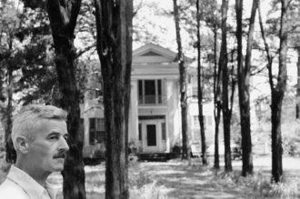 William Faulkner in front of his house in Oxford, Mississippi, 1947