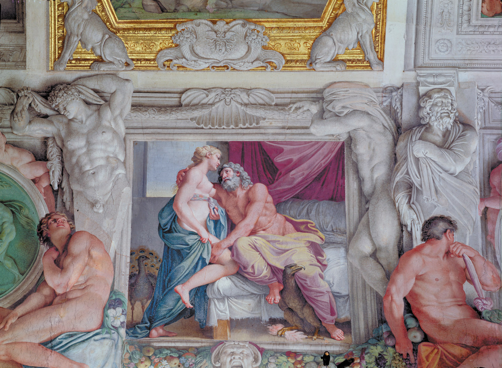 'Jupiter and Juno'; a detail from Annibale Carracci's ceiling at the Palazzo Farnese, Rome, 1597–1604