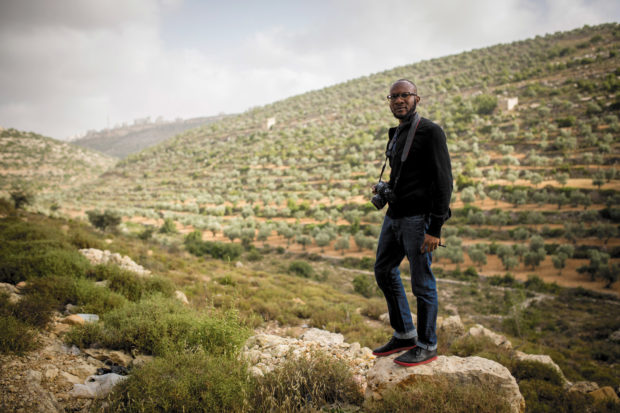 Teju Cole on the outskirts of Ramallah during the Palestine Festival of Literature, June 2014