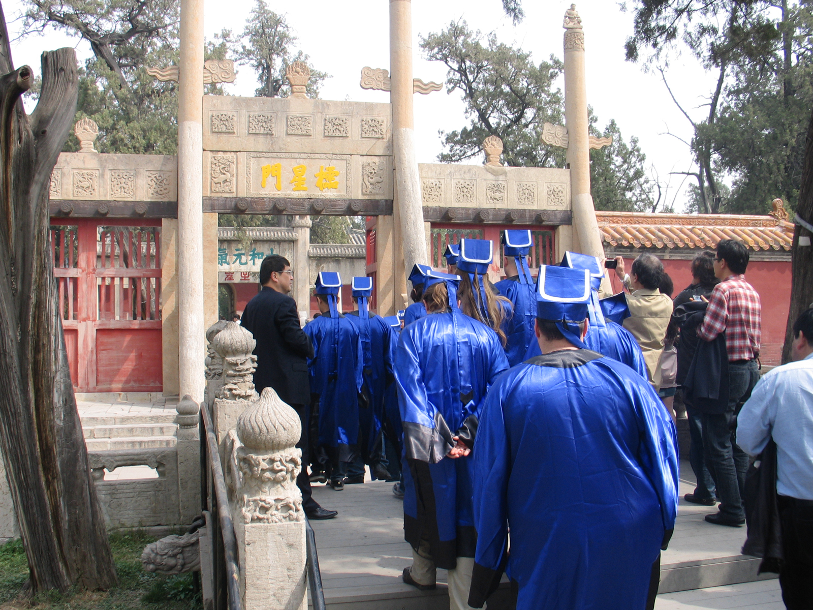 Students from a Confucius Institute in the US visiting the Confucius Temple in Qufu, China, April 17, 2013