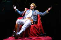 Obi Alibi as Brutus Jones in Eugene O'Neill's The Emperor Jones, directed by Ciarán O'Reilly at the Irish Repertory Theatre, New York City, 2017