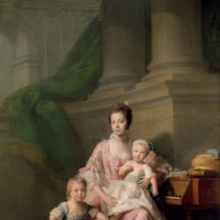 Allan Ramsay: Queen Charlotte with her Two Eldest Sons, 1764-1769