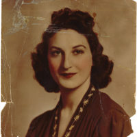 Phillip Lopate's mother, Frances Lopate, in a portrait made by a photographer who worked for Lincoln Studios, Newark, New Jersey, 1939