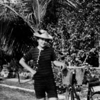Elizabeth Bishop in Key West, Florida; undated photograph by Lloyd Frankenberg from Elizabeth Bishop: Objects and Apparitions, the catalog of an exhibition celebrating Bishop's centenary, published by the Tibor de Nagy Gallery in 2011