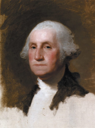Gilbert Stuart: George Washington (The Athenaeum Portrait), 1796; from Susan Rather's The American School: Artists and Status in the Late Colonial and Early National Era, published by the Paul Mellon Centre for Studies in British Art and Yale University Press