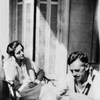Eugene O'Neill and Carlotta Monterey, his third wife, before they married, at Cap d'Ail, France, 1929