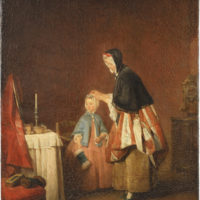 Jean-Siméon Chardin: The Morning Toilette, 19 1/4 x 15 1/2 inches, 1740–1741