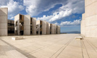 The Salk Institute for Biological Studies in La Jolla, California, designed by Louis Kahn and completed in 1965