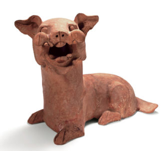 Earthenware dog, Henan Province, eastern Han dynasty, 25–220 AD